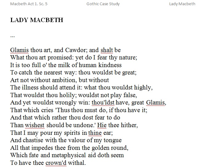 lady macbeth speech