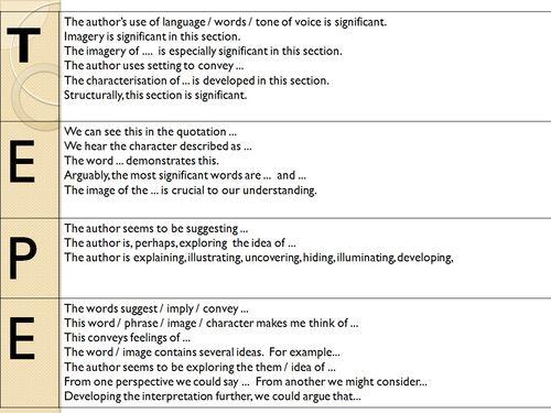 TEPE Sentences