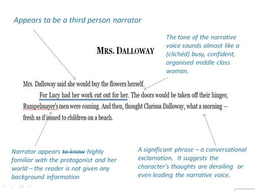 Dalloway Narrative Model