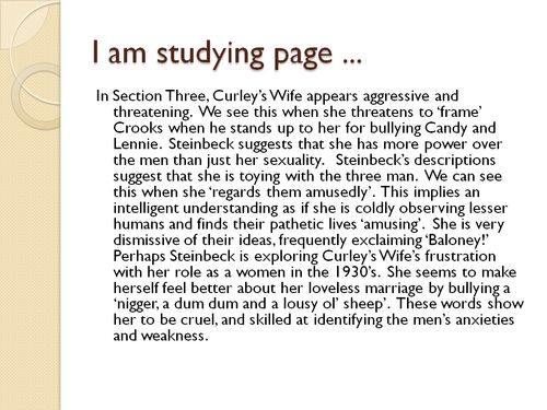 Curley's Wife Grade B+ Model